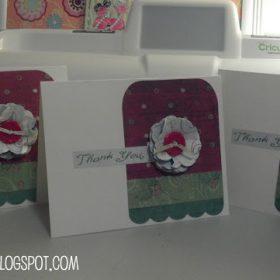 Cricut Christmas Thank You Card