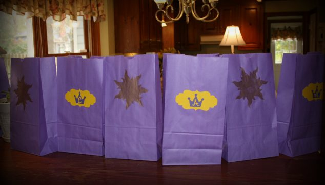 Rapunzel Tangled Party Favor Bags