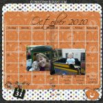 Digital Delights: October Calendar Page