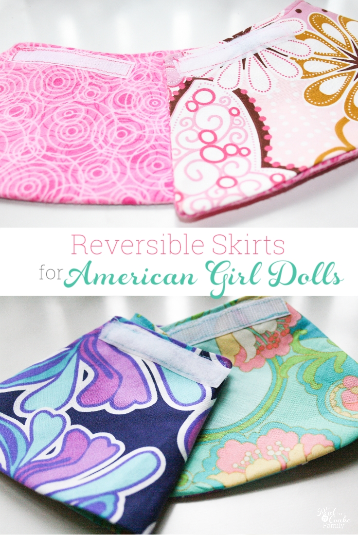 9978a45d9f0e American Girl doll clothes pattern to sew a reverisble wrap skirt