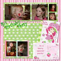 Digital Delights: Strawberry Shortcake Birthday Party