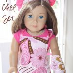 American Girl Skirt Set & Chef Set