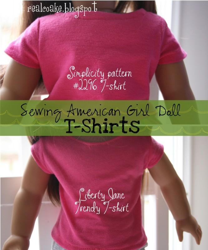 American Girl Doll Pattern Sewing American Girl Doll T Shirts