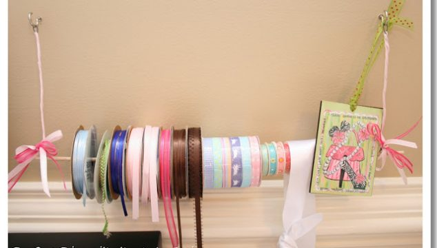 Wire and Dowel Rod Ribbon Holder (DIY & Tutorial)
