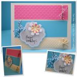 Color Block and Baker's Twine Birthday Card