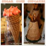 Sugar Cone Cupcake Baking the Easy Way {Tutorial}