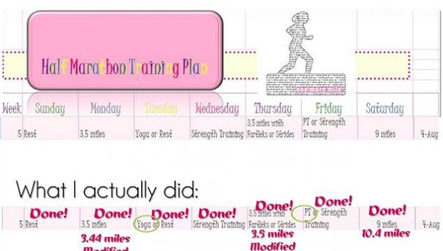 Half Marathon Training ~ Week 5