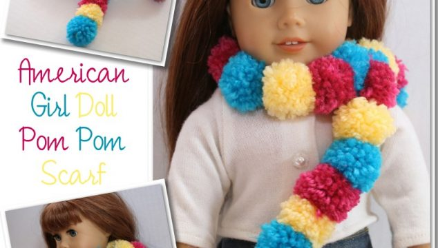 American Girl Doll Pom Pom Scarf