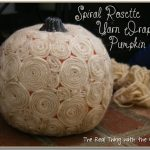 Swirly Wirly ~ Spiral Rosette Yarn Wrapped Pumpkin