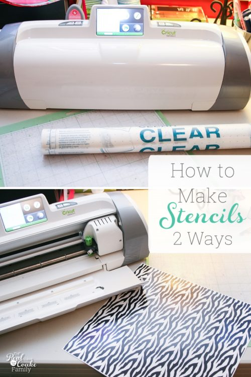 How to make DIY stencils 2 different ways with the Cricut. Love how easy this makes it to make custom stencils. Perfect!