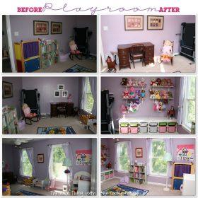 Toy Storage: Kid's Playroom Reorganization