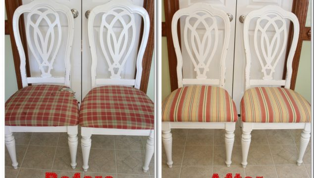 Tutorial and step by step directions on how to recover a chair. #DIY #RealCoake