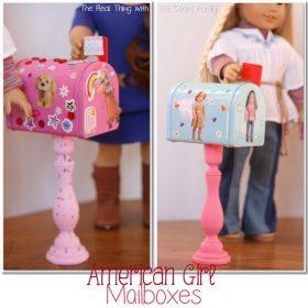 American Girl Craft {Valentine Mailboxes}