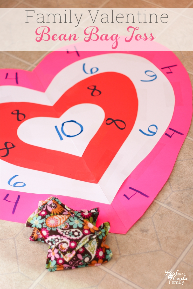 photo regarding Printable Bean Bag Toss Rules named Things to do for the Loved ones ~ Valentines Bean Bag Throw - The