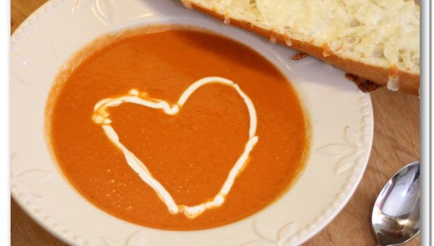 Valentine Dinner {Tomato Soup Recipe}