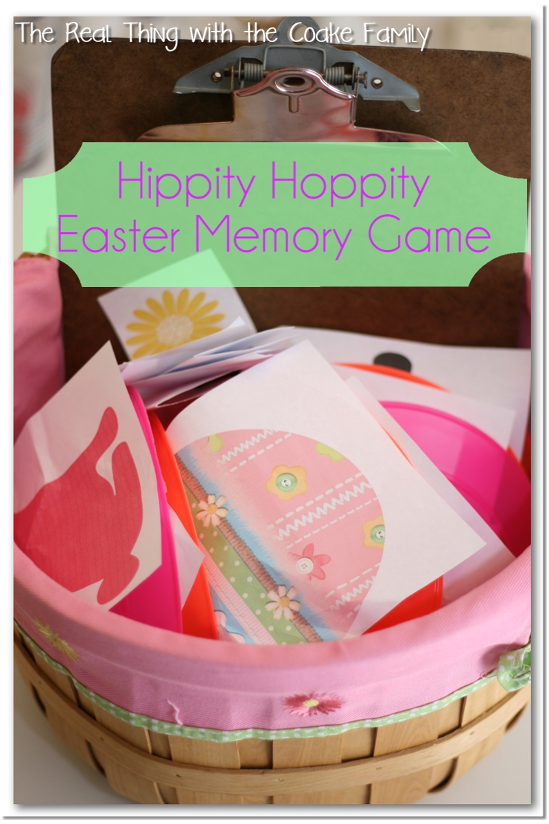 Activities for the Family ~ a fun, active Easter game of memory for the whole family. #Easter #Family #GameNight #RealCoake