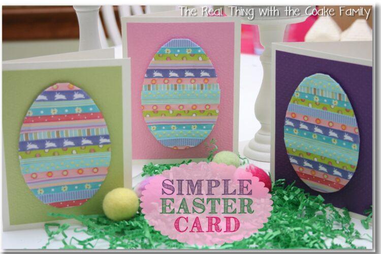 3 handmade cards for easter