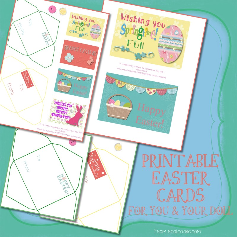 graphic about Free Printable Easter Cards named Printable Easter Playing cards for oneself and your doll!