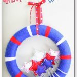 Star Spangled Wreath a 4th of July Craft