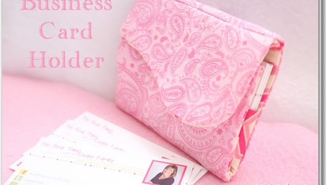 My Blog Becomes Official ~ Or Making a Business Card Holder