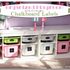 Chalkboard Labels for Organized Toy Storage