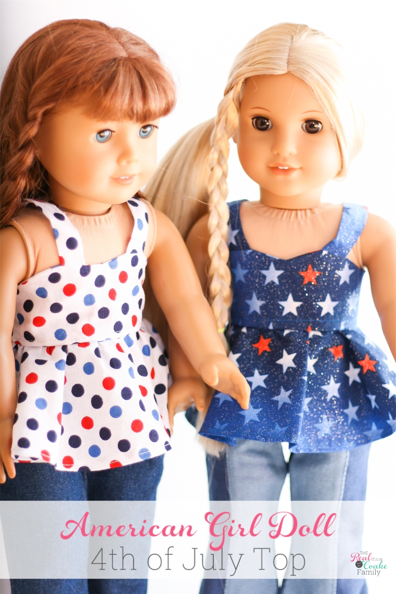 photo regarding Free Printable Doll Clothes Patterns for 18 Inch Dolls named American Lady Doll 4th of July Final ~ Free of charge Doll Dresses Routine