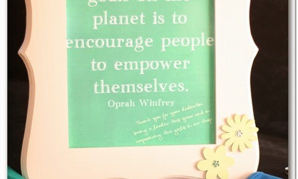 Inspirational Quote for a Girl Scout Leader Gift