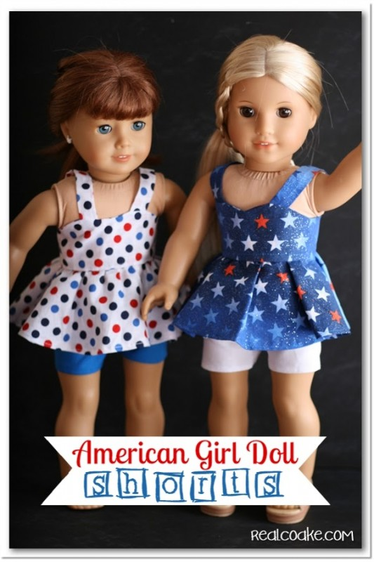 American Girl Doll Shorts {Patterns for Doll Clothes}