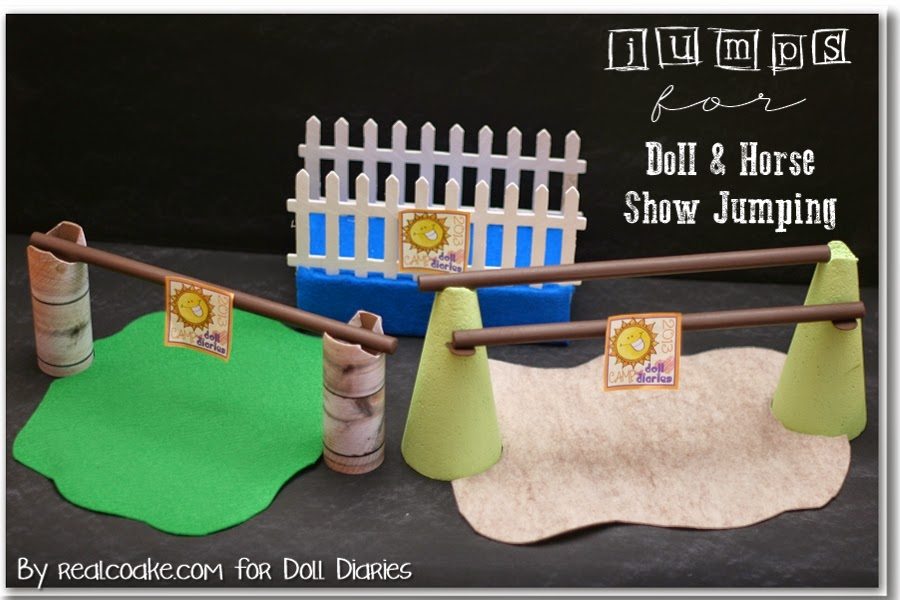 A cute American Girl craft to make show jumps for 18