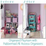 Easy Toy Storage with Rubbermaid All Access Organizers