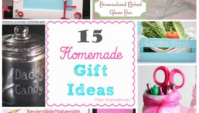 15 Homemade Gift Ideas
