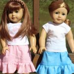 Doll Skirts to the Max {American Girl Doll Clothes Pattern}