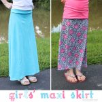 Skirts to the Max {Maxi Skirt Pattern for Girls}