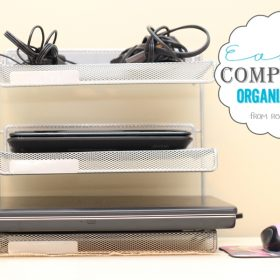 The Easy Way to Organize Your Computers {Organizing Your Home}