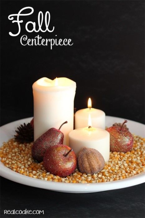 Simple Fall Centerpiece Idea perfect for fall home decor and it is crazy easy too!