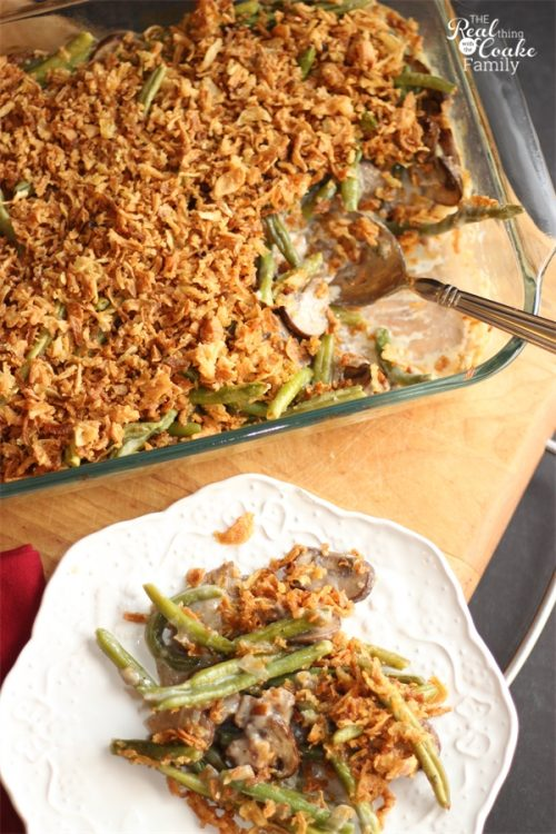This recipe is amazing! It is a delicious whole food recipe for Green Bean Casserole perfect for our Thanksgiving dinner or Christmas table. Yum!