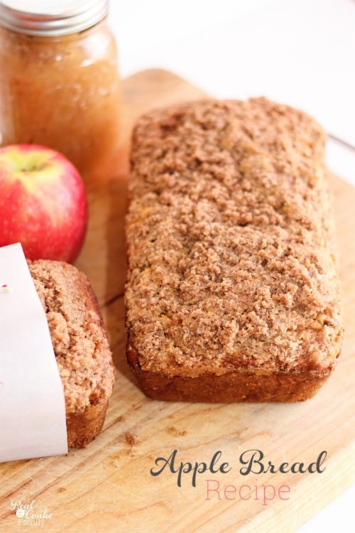 We sure love our apple recipes! This is a quick, healthy and delicious recipe to make apple bread. So Yummy!