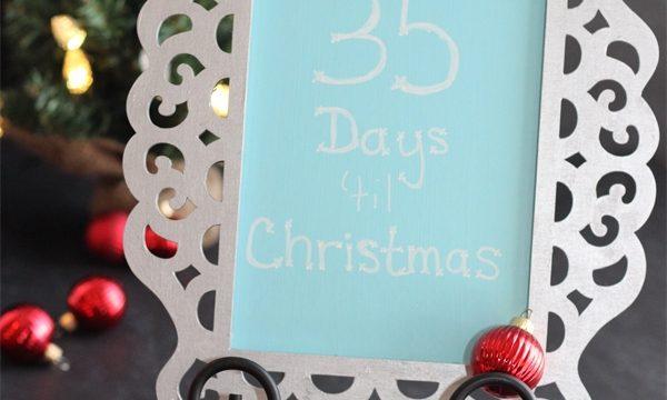 Christmas Countdown Frame