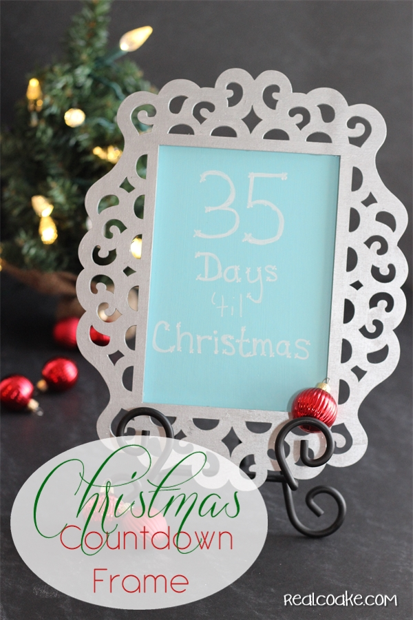Laser cut frame turned into a cute and simple to make #ChristmasCountdown from #RealCoake