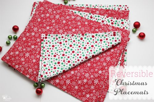 How to make placemats. Tutorial to make cute reverisble Christmas placemats.