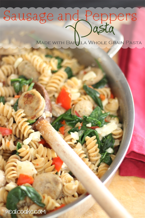 Delicious, quick, easy and #HealthyDinnerRecipes the whole family will enjoy.  #PastaRecipes made with Barilla Whole Grain Pasta from #realcoake
