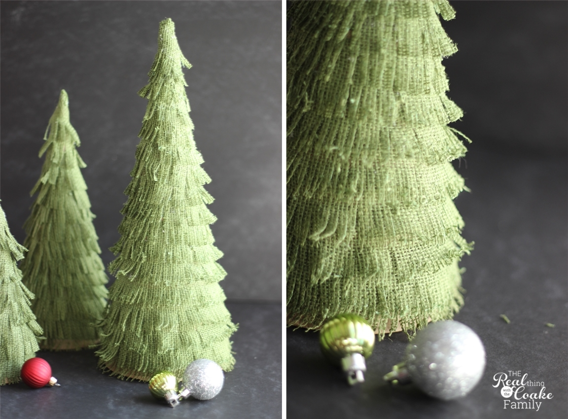 Christmas Crafts Make Your Own Adorable Burlap Christmas Trees - Diy burlap christmas decorations
