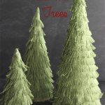 Christmas Crafts ~ Burlap Christmas Trees