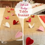 Valentine Felt and Burlap Table Runner