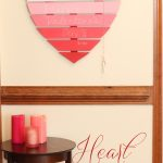 Heart Shaped Chalkboard using Chalkboard Paint