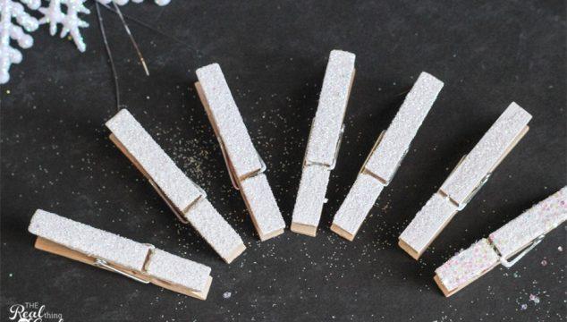 10 Minute Craft Ideas ~ Glitter Clothespins