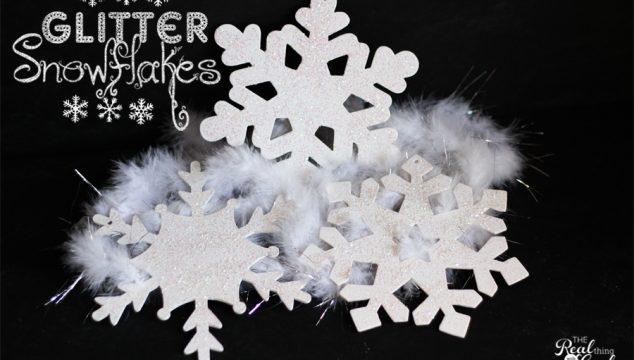 10 Minute Craft Ideas ~ Glitter Snowflakes