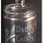 Father's Day Gift ~ Glass Etched Candy Jar
