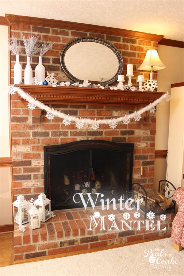 Mantel Decor - Ideas for a Winter Mantel