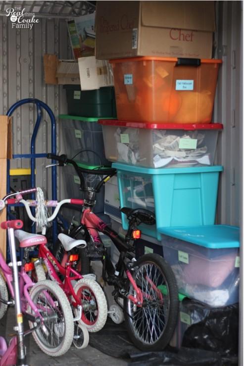 Storage organization system ~ Perfect for organizing your attic, shed, or garage storage bins. #Organization #Garage #Shed #Attic